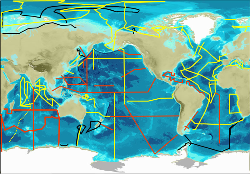 GEOTRACES worldmap sections l
